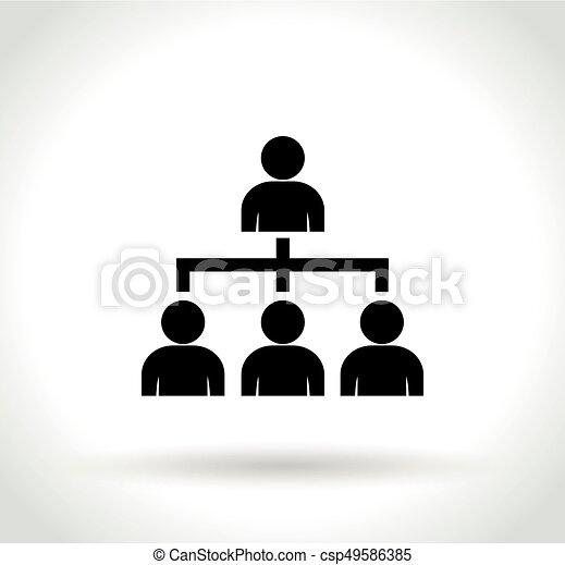 组织, 白的背景, 图标 - csp49586385