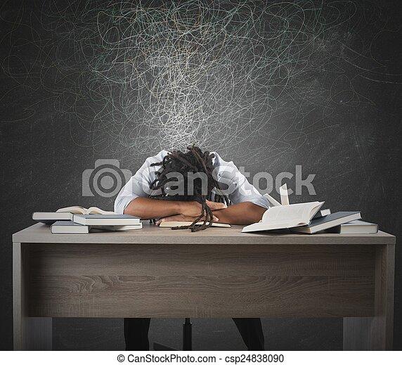结束, 书, 人, 作梦 - csp24838090