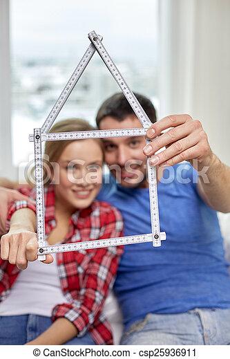 统治者, 夫妇, , 形状, 房子, 关闭 - csp25936911