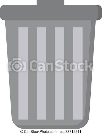 罐頭, 背景。, 白色, 垃圾, 矢量, 插圖 - csp73712511