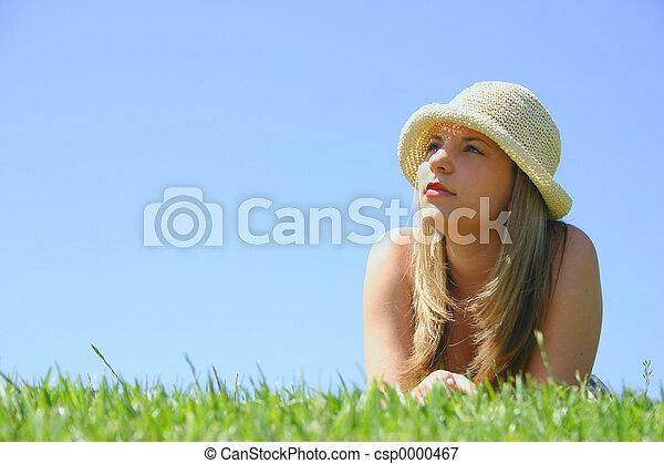 美しい女性 - csp0000467