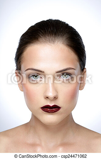 美しい女性, 美しさ, 若い, 皮膚, 肖像画, 新たに - csp24471062