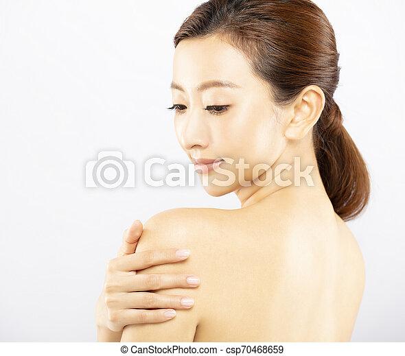 美しい女性, 若い, きれいにしなさい, 皮膚, 新たに - csp70468659