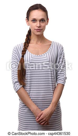 美しい女性, 若い, きれいにしなさい, 皮膚, 新たに - csp44361530