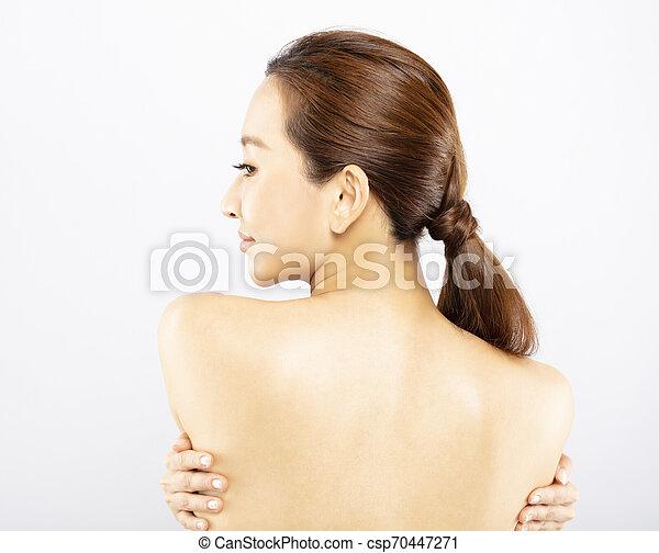 美しい女性, 若い, きれいにしなさい, 皮膚, 新たに - csp70447271