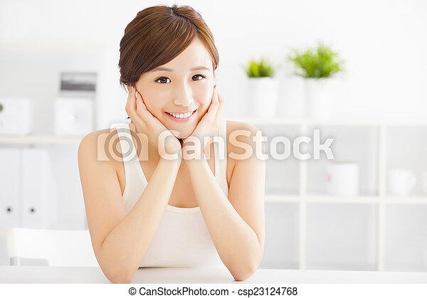 美しい女性, 若い, アジア人 - csp23124768