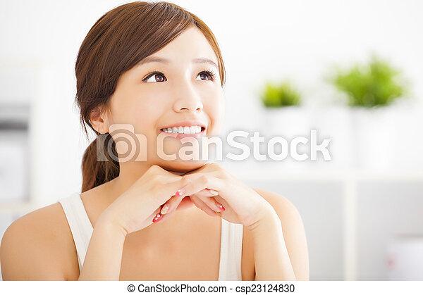 美しい女性, 若い, アジア人 - csp23124830