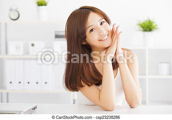 美しい女性, 若い, アジア人 - csp23238286