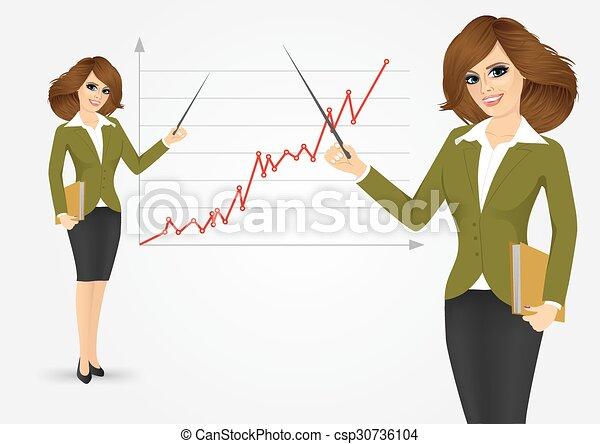 美しい女性, 若い, ビジネス - csp30736104
