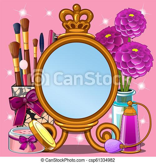 美しい, かわいい, スタイル, ∥あるいは∥, 映像, illustration., スペース, 写真フレーム, 構造, わずかしか, fashionista, 漫画, クローズアップ, ベクトル, テキスト, princess., あなたの, カード, 挨拶 - csp61334982