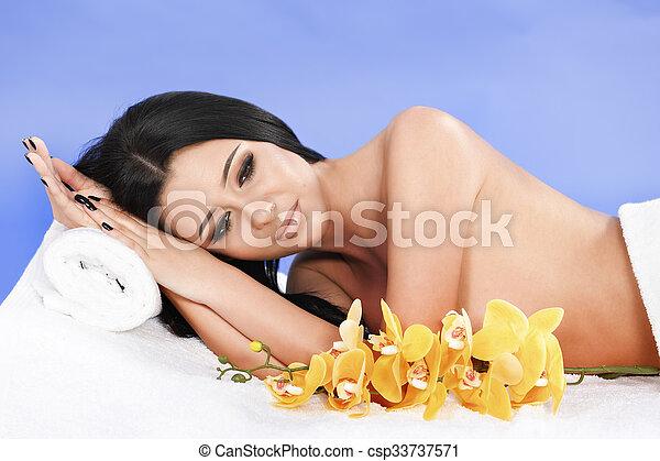 美しい, エステ, 弛緩, 女 - csp33737571