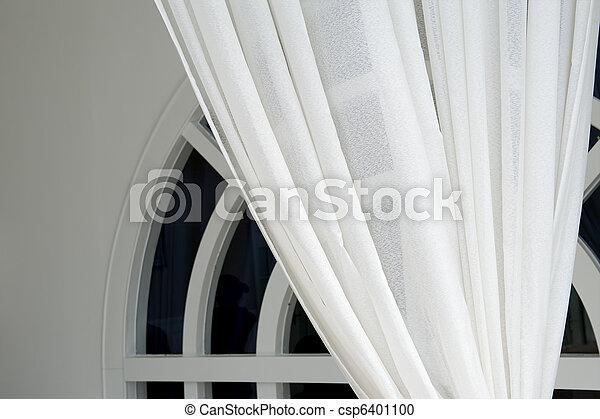 美しい, カーテン, スタイル, 現代 - csp6401100