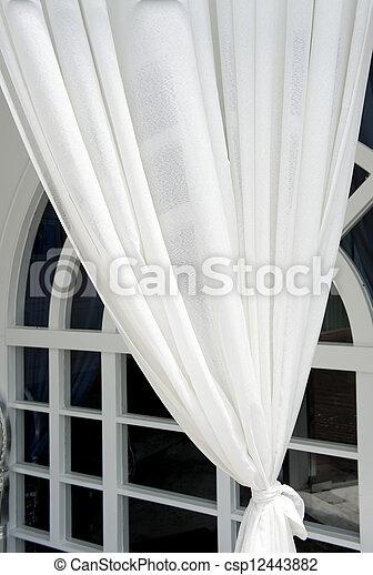 美しい, カーテン, スタイル, 現代 - csp12443882