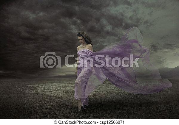 美しい, セクシー, 女性の 肖像画 - csp12506071