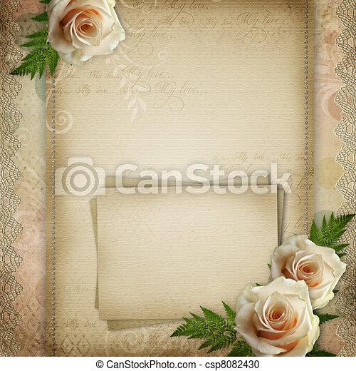 美しい, 型, 背景, 結婚式 - csp8082430
