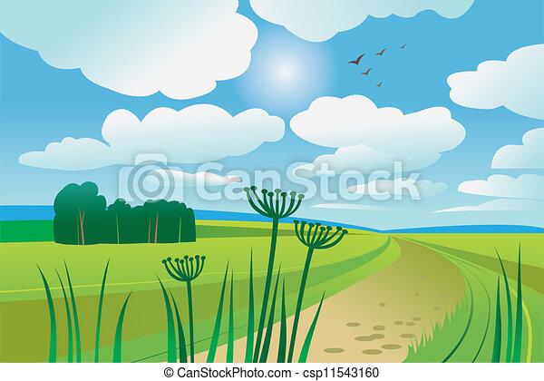 美しい, 夏の日 - csp11543160