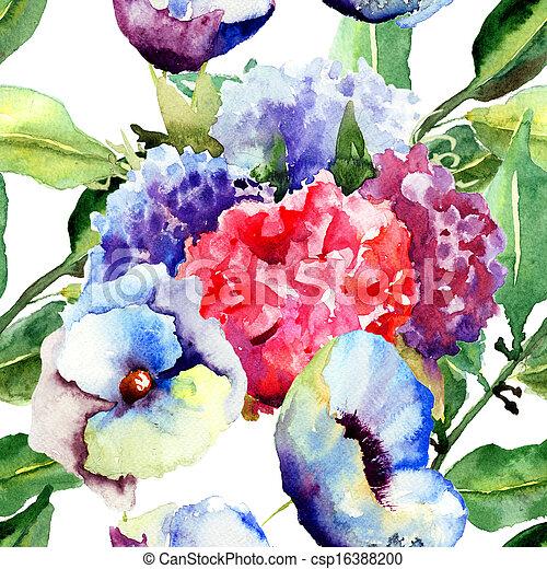 美しい, 夏, 花 - csp16388200