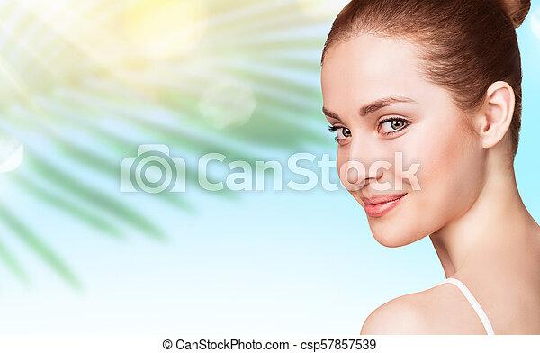 美しい, 完全, skin., 女 - csp57857539