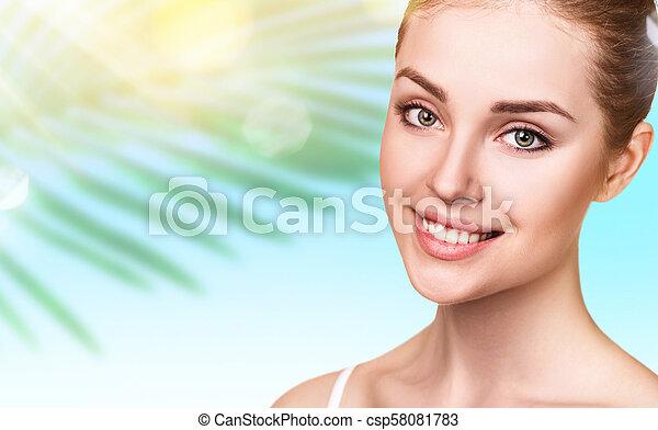 美しい, 完全, skin., 女 - csp58081783