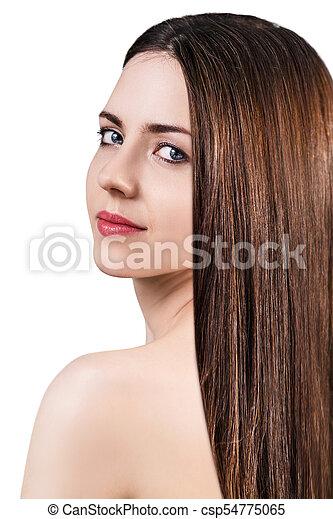 美しい, 完全, skin., 女, 若い - csp54775065