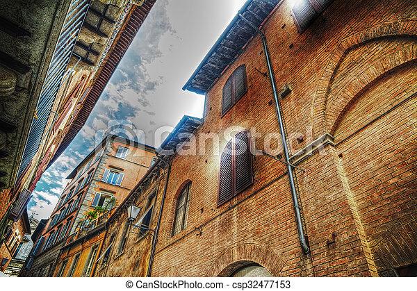 美しい, 建物, siena - csp32477153