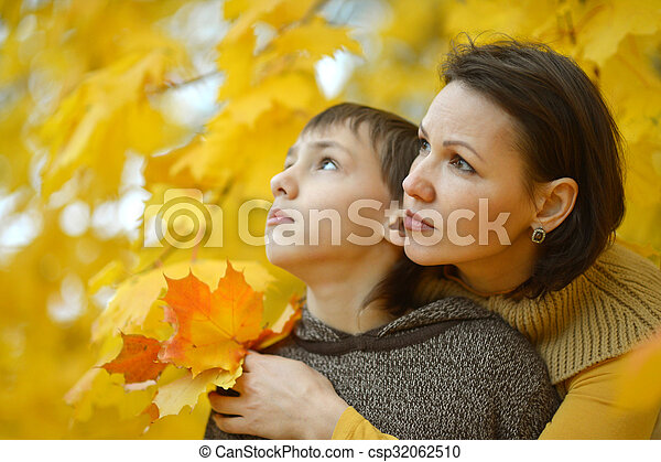 美しい, 息子, 公園, 母 - csp32062510