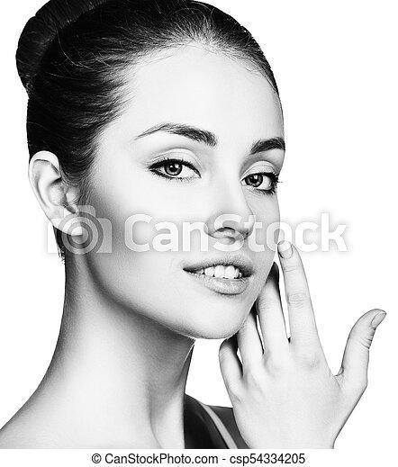 美しい, 新たに, skin., 女, 若い - csp54334205