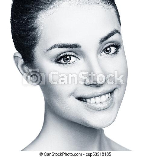 美しい, 新たに, skin., 女, 若い - csp53318185