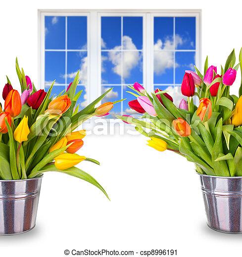 美しい, 春, 花束 - csp8996191
