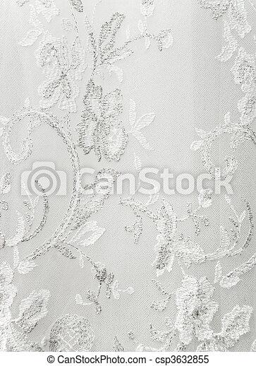 美しい, 服, 結婚式, 装飾, 刺しゅうされた - csp3632855