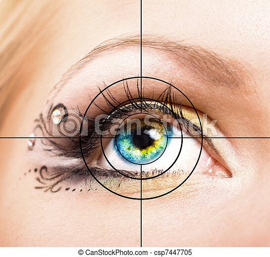 美しい, 構造, 目, ターゲット - csp7447705