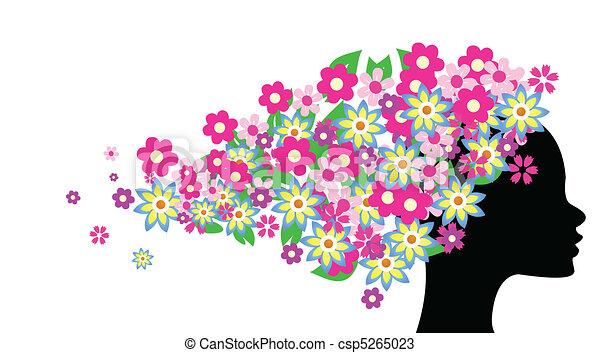 美しい 毛 女の子 花 美しい イラスト 毛 ベクトル 女の子 花