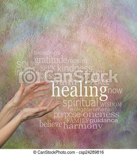 美しい, 治癒, 言葉 - csp24289816