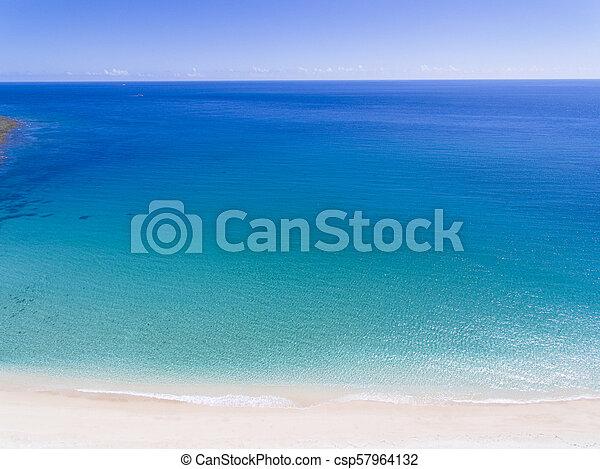 美しい, 浜, 航空写真, 砂, 光景 - csp57964132