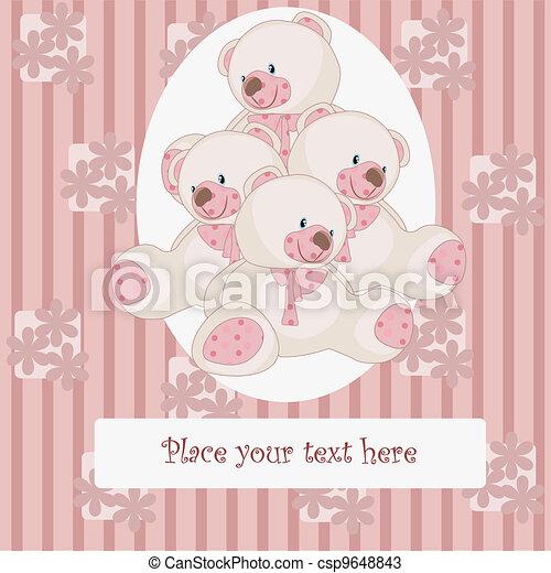 美しい, 熊, カード - csp9648843