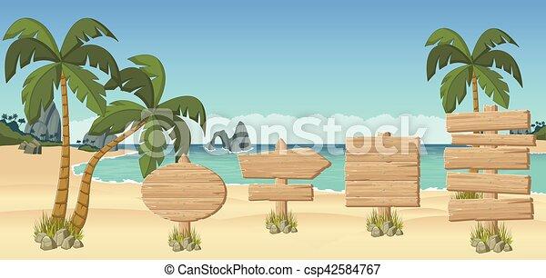 美しい, 熱帯 浜 - csp42584767