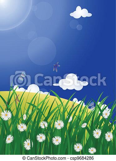 美しい, 牧草地 - csp9684286
