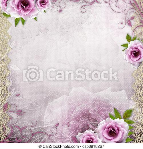美しい, 白い背景, 結婚式 - csp8918267