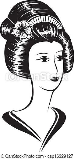 美しい, 肖像画, 女, アジア人 - csp16329127