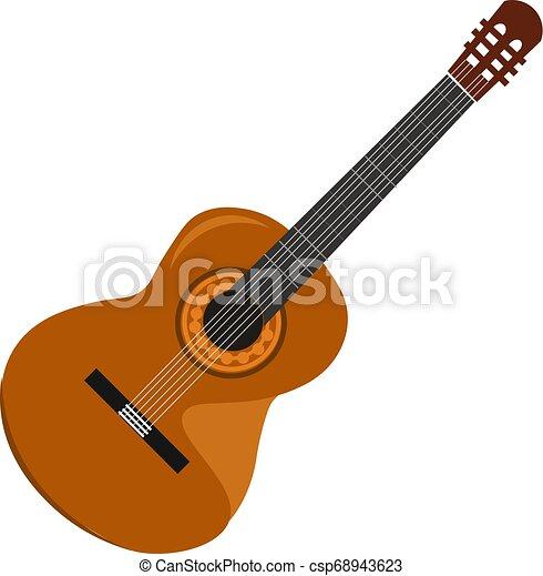 美しい, 色, イラスト, ギター, ベクトル, ∥あるいは∥ - csp68943623