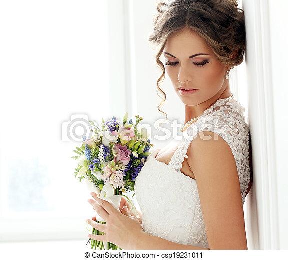 美しい, 花嫁, wedding. - csp19231011