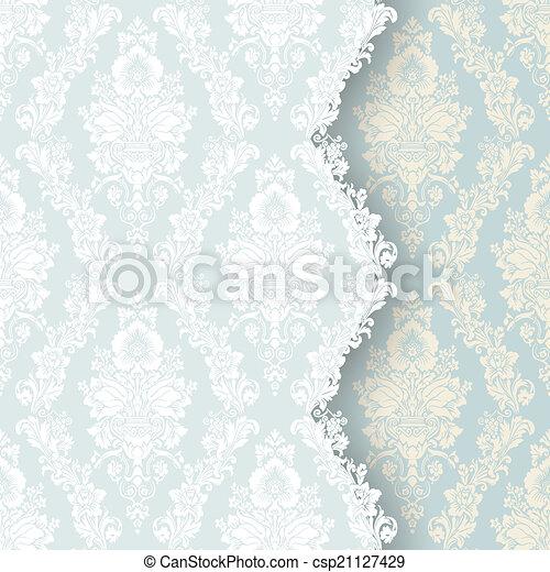 美しい, 花, カード, 招待 - csp21127429