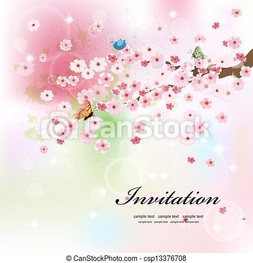 美しい, 花, デザイン, あなたの - csp13376708