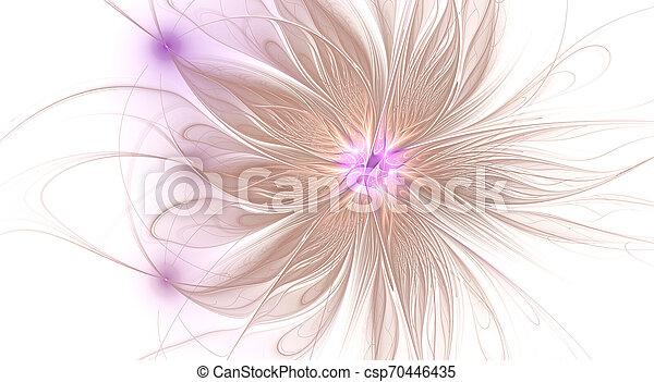 美しい, flower., ファンタジー, フラクタル, バックグラウンド。, 芸術的, 光沢がある, 未来派 - csp70446435