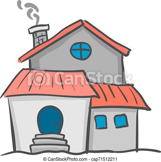 美しい, illustration., 色, 家, ベクトル, ∥あるいは∥ - csp71512211