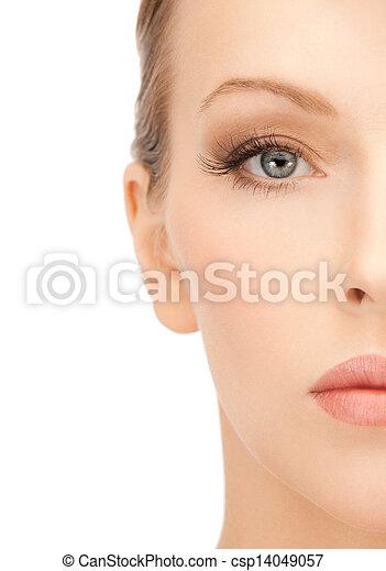 美丽的妇女, 脸 - csp14049057