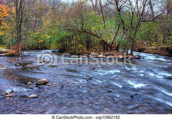 美丽, 河, hdr, 急流 - csp10962182
