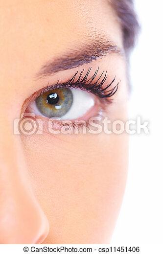 美丽, face., 妇女 - csp11451406