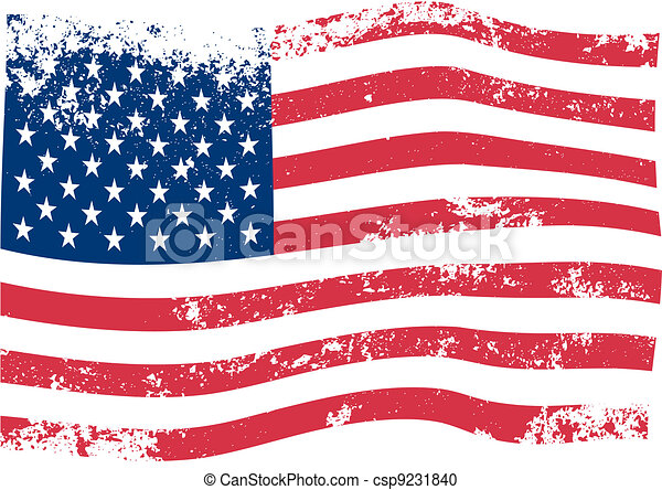 美國人, 矢量, 旗 - csp9231840