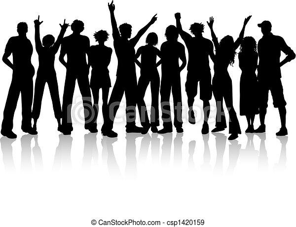 群集, 人々 - csp1420159